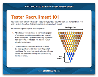 Tester Recruitment 101